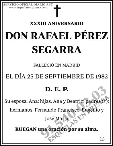 Rafael Pérez Segarra